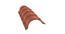 Коньки для кровли из металлочерепицы Grand Line в Старом Осколе Планка конька полукруглого