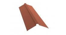 Коньки для кровли из металлочерепицы Grand Line в Старом Осколе Планка конька плоского 150х40х150
